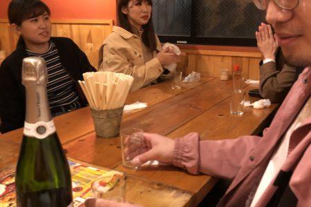 武本君、松井さんの歓送迎会